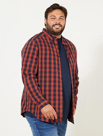 Chemise regular à carreaux - Kiabi