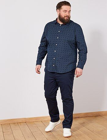 Chemise regular à micro motif