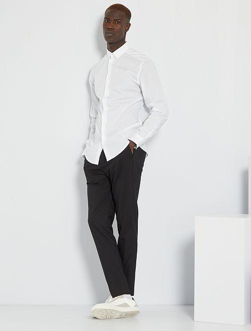 Chemise regular blanche                                         blanc