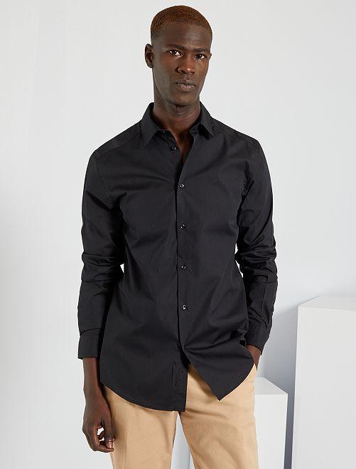 Chemise regular blanche                                         noir