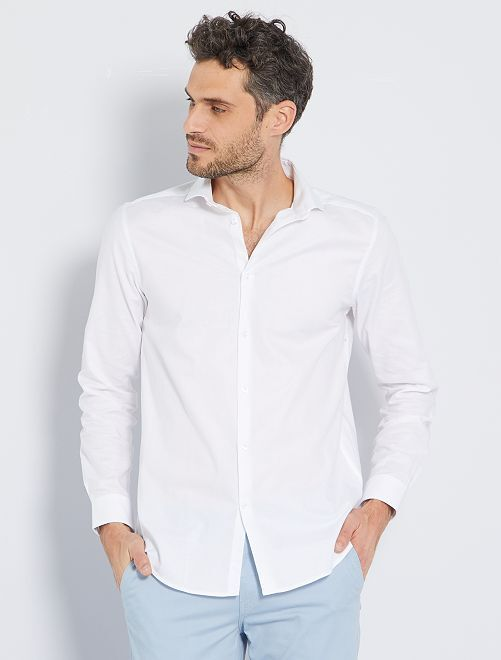 Chemise regular coton oxford                                         blanc Homme