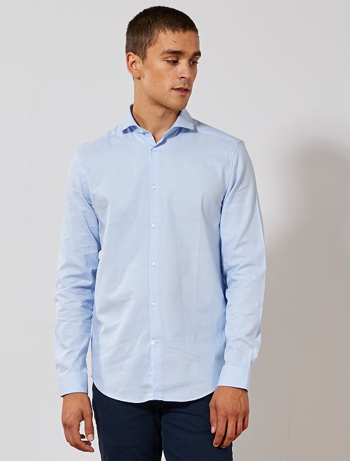 Chemise regular coton oxford                                                     bleu ciel