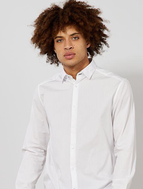 Chemise regular en coton                                         blanc