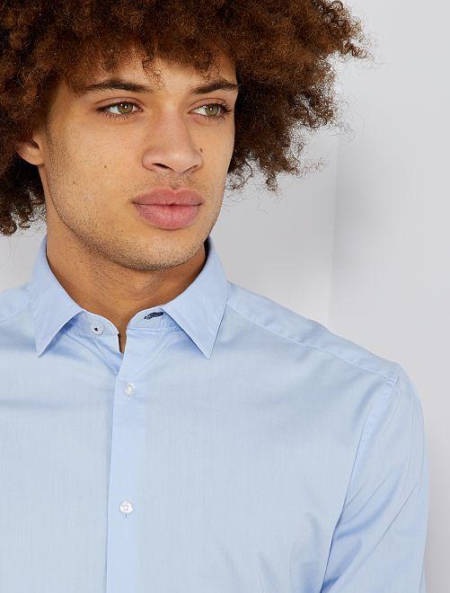 Chemise regular en coton                                         bleu ciel