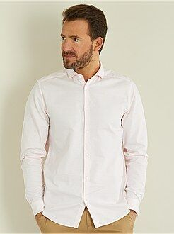 Chemise city - Chemise regular en coton oxford - Kiabi