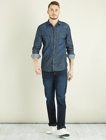 Chemise regular en denim 1m90