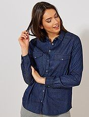 Chemise regular en denim
