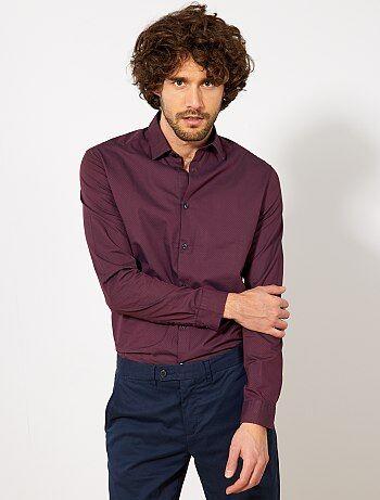 af13ba2a14b chemise-regular-en-popeline-a-micro-motif-bordeauxbleu-marine -homme-vt023 10 fr1.jpg