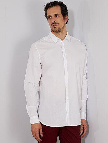 Chemise Soldes Vêtements Mode Kiabi Homme Blanche T1wnpOqC