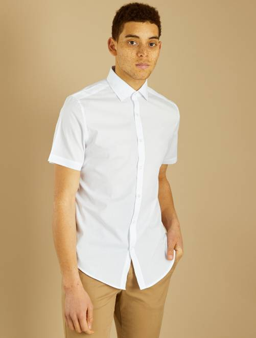 Chemise regular manches courtes                             blanc Homme