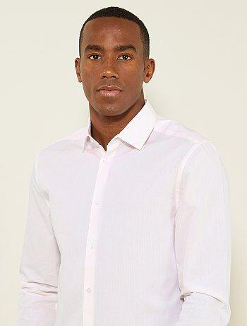 Chemise regular popeline à fines rayures - Kiabi