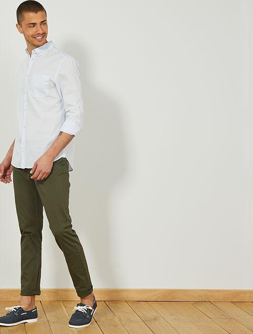 Chemise regular rayée                                         bleu ciel/blanc Homme