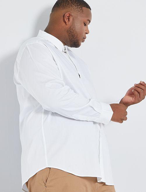 Chemise satinée éco-conçue                                                     blanc