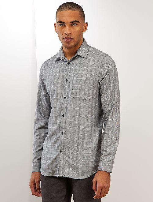Chemise slim à carreaux                                                                 gris carreaux
