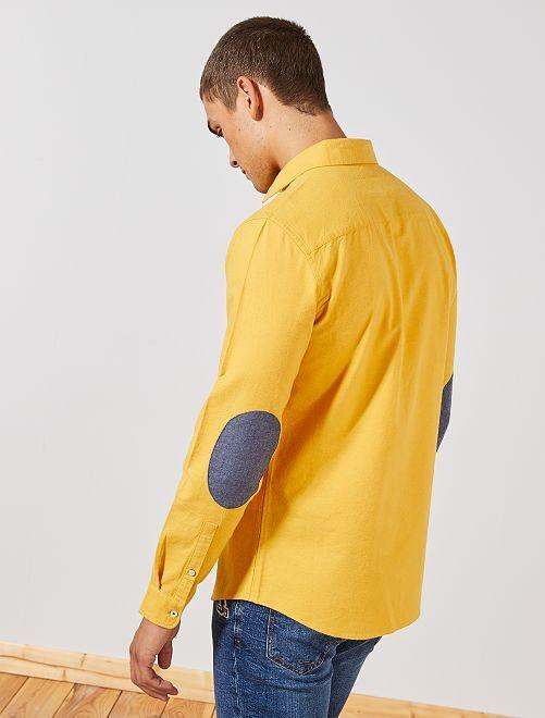 Chemise slim coton oxford                                                     jaune Homme