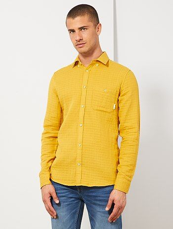 21af59878c171 Chemise Vêtements homme | jaune | Kiabi