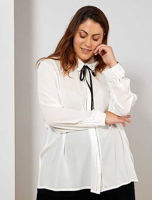 Chemise style baroque                                         blanc Grande taille femme