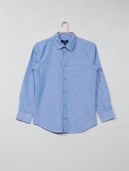 Chemise unie pur coton                                         bleu clair Garçon adolescent