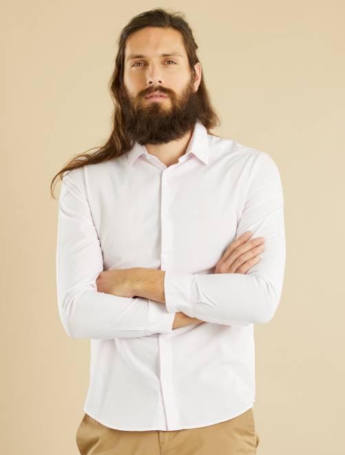 bc003c64293d2 Chemise vichy fitted en popeline Homme - rose/blanc vichy - Kiabi ...