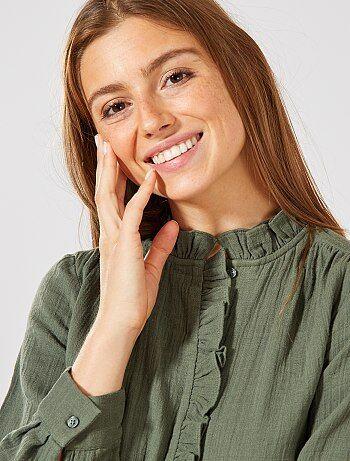 1edc7072f9fffc Chemise femme | tunique, blouse, chemisier - mode Femme | Kiabi
