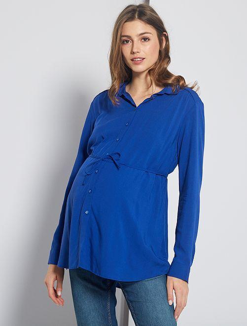 Chemisier de maternité                                                     bleu