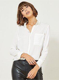 chemise femme chemise voile chemisier manches courtes femme kiabi. Black Bedroom Furniture Sets. Home Design Ideas