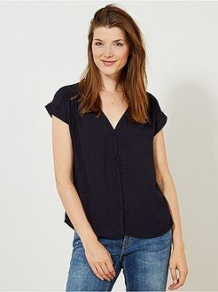 Top, blouse bleu - Chemisier fluide - Kiabi