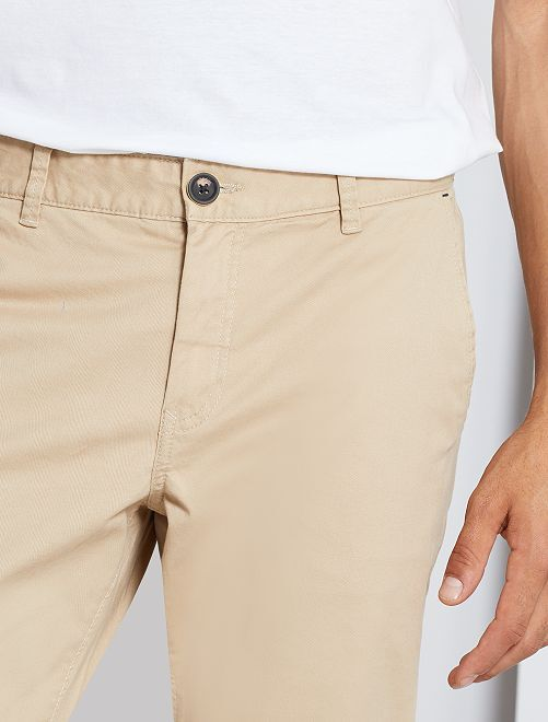 Chino regular L30 éco-conçu                                                                                                                                                                 beige