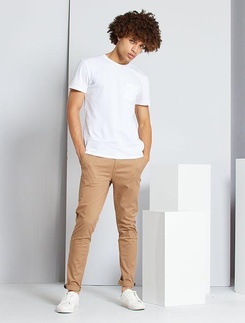 Chino skinny L30 éco-conçu                                                                                                                                                                                         beige foncé