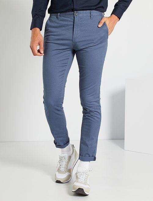 Chino skinny L30 éco-conçu                                                                                                                                                     bleu gris
