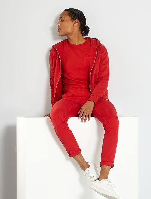 Chino skinny L30 éco-conçu                                                                                                                                                     rouge