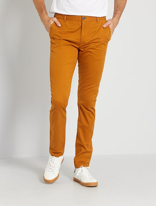 Chino skinny L38 +1m95                                                     ocre