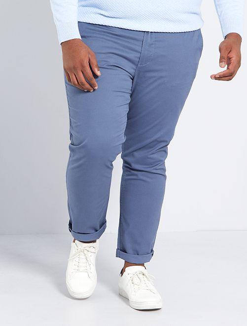 Chino slim L30                                                                                                     bleu gris