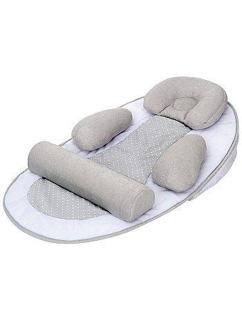 Product Couleur : gris, , ,, - Taille : TU, , ,,Habillement Bébé / Garçon 0-36 mois / Puériculture / Pour dormir  Support de couchage ergonomique 'Tinéo'. - Plan incliné - Cale-tête amovible et  KIABI