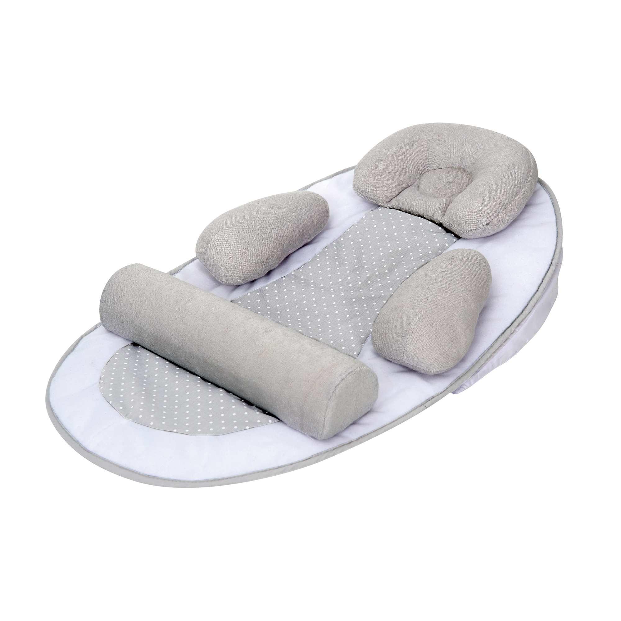 Couleur : gris, , ,, - Taille : TU, , ,,Support de couchage ergonomique 'Tinéo'. - Plan incliné - Cale-tête amovible et