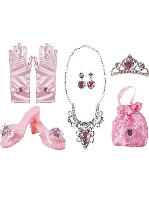 Coffret d'accessoires de princesse                             rose