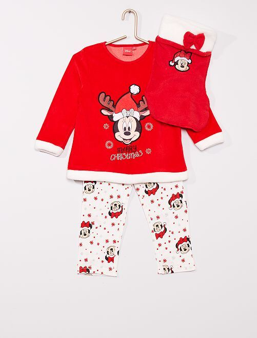 Coffret pyjama 'Minnie'                                         rouge/écru