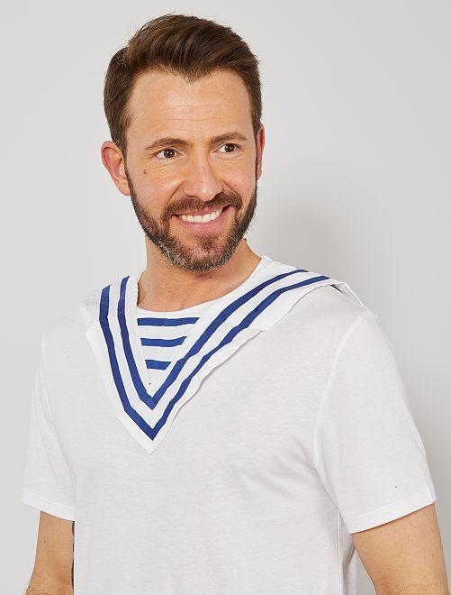 Col de marin                             blanc/bleu Femme