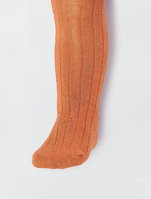 Collant côtelé éco-conçu                                                                 orange