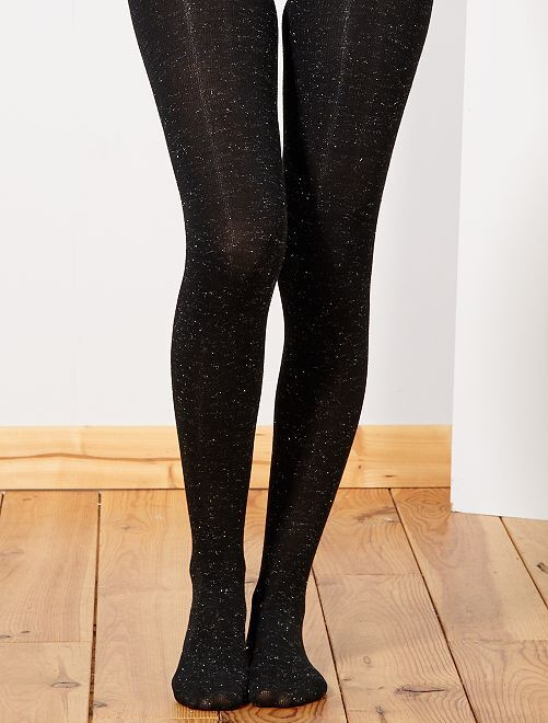 Collants chauds pailletés                                         noir