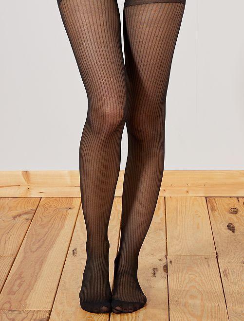 Collants 'DIM' Style à rayures                             noir