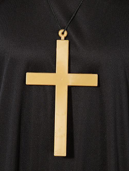 Collier avec pendentif croix de moine                             or Accessoires