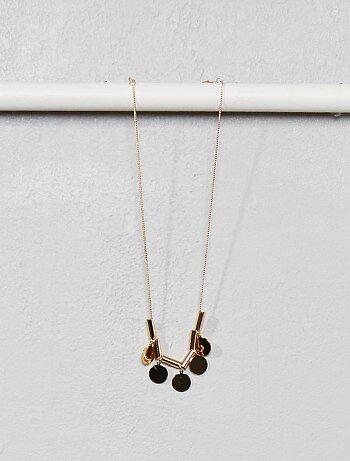 2cc36203023 Collier avec pendentifs ronds - Kiabi