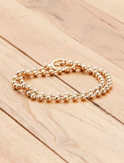 Collier chaîne coloris coloris doré ras de cou                             doré