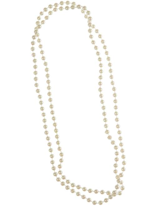 Collier de perles long                             blanc