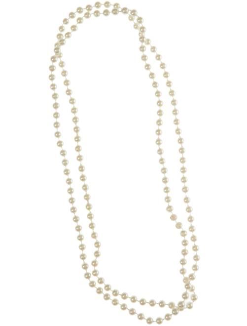 Collier de perles long                             blanc
