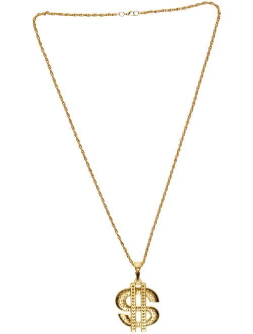 Collier 'Dollar' en métal                              doré
