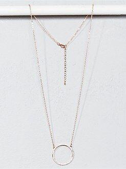 Bijoux - Collier forme ronde à strass - Kiabi