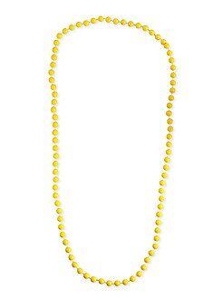 Collier long perles