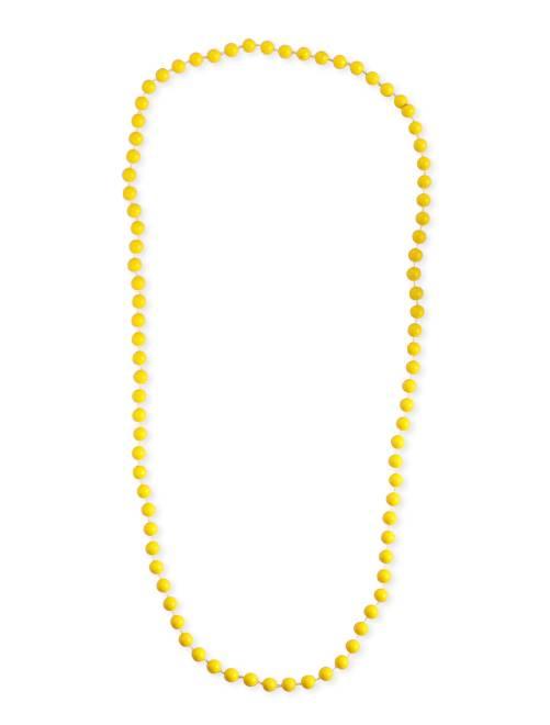Collier long perles                                                                  jaune